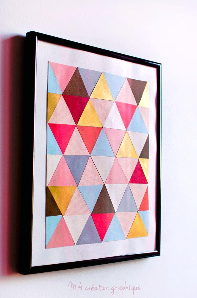 Cadre triangles. M.A création graphique.