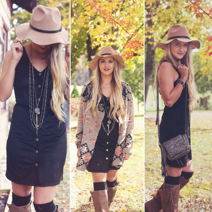 Altar'd State aztec print cardigan and suede button-up dress