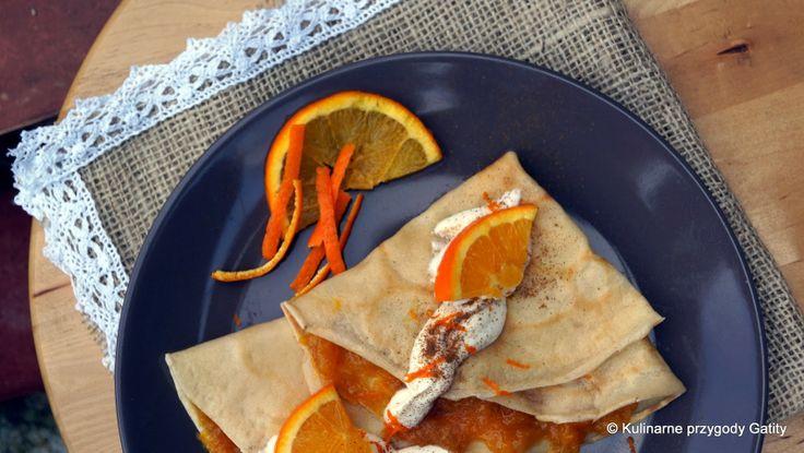 Naleśniki z konfiturą pomarańczową