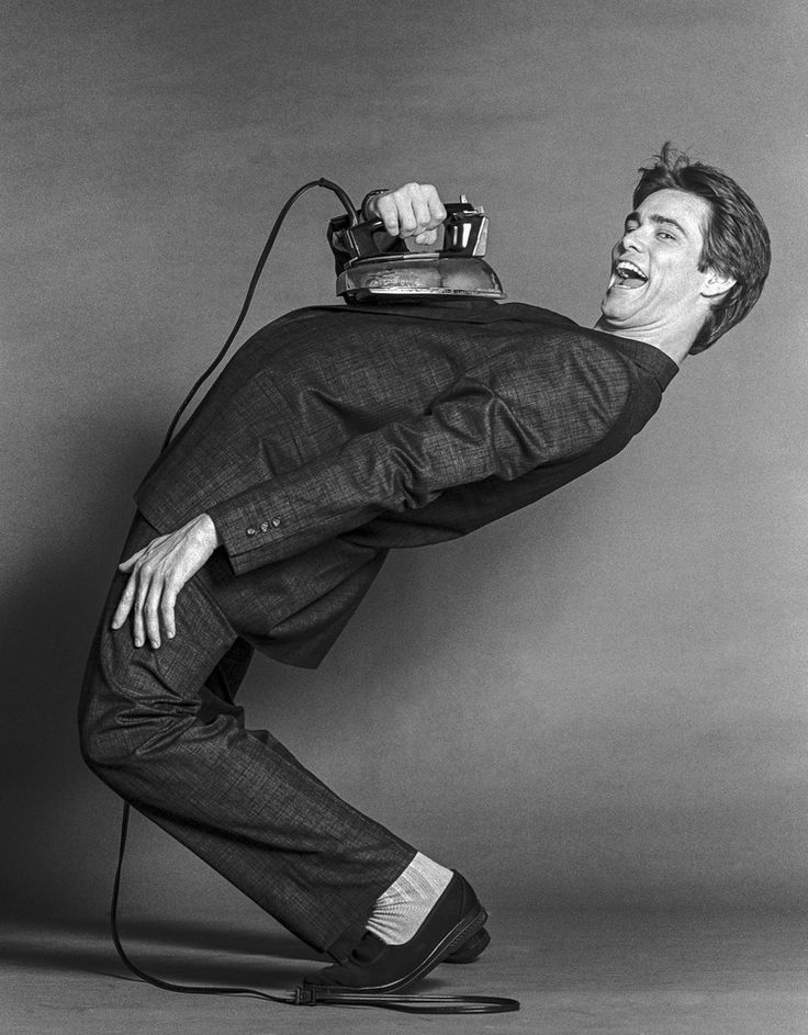 """Jim Carrey With Iron"" by Eugene Pinkowski.  #comedian #comedy"