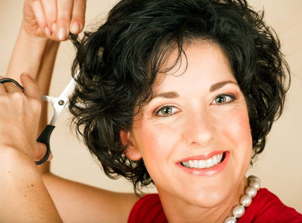 Short Layered Wavy Over 50 | Short curly hairstyles for women over 50 fit many face types