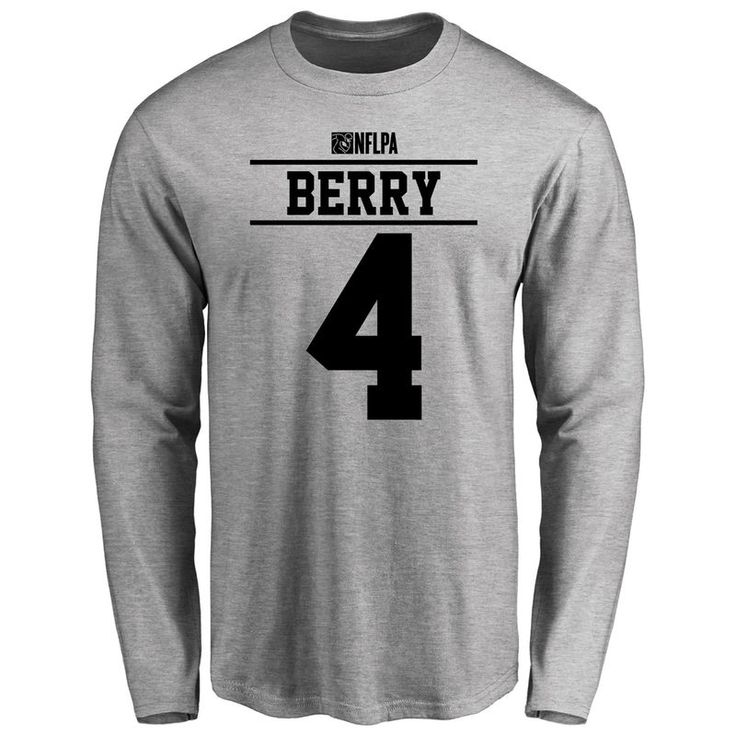 Jordan Berry Player Issued Long Sleeve T-Shirt - Ash