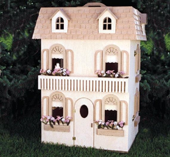 Classic Barbie Doll House Woodworking Plans to make-your-own dollhouse