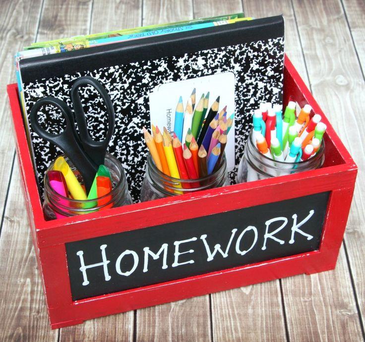 Homework Caddy - Keeping homework time organized.