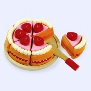 Houten Stoffen Taart groot snijfiguur is een hele mooie taart met klitterband de taart kan bijna helemaal uit elkaar