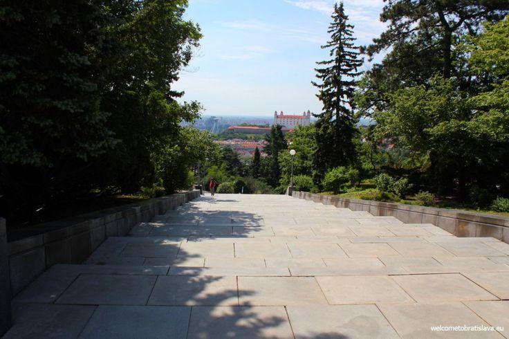 SLAVIN MEMORIAL - WelcomeToBratislava | WelcomeToBratislava - view on the Castle from the Slavin's square