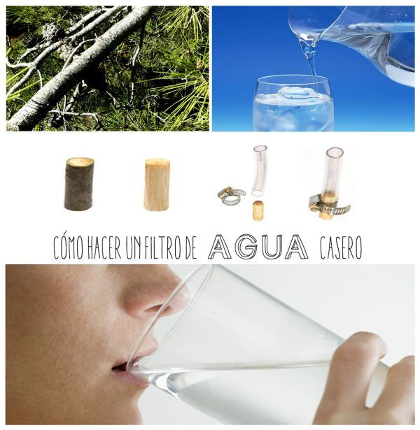 Como purificar el agua a través de un filtro casero