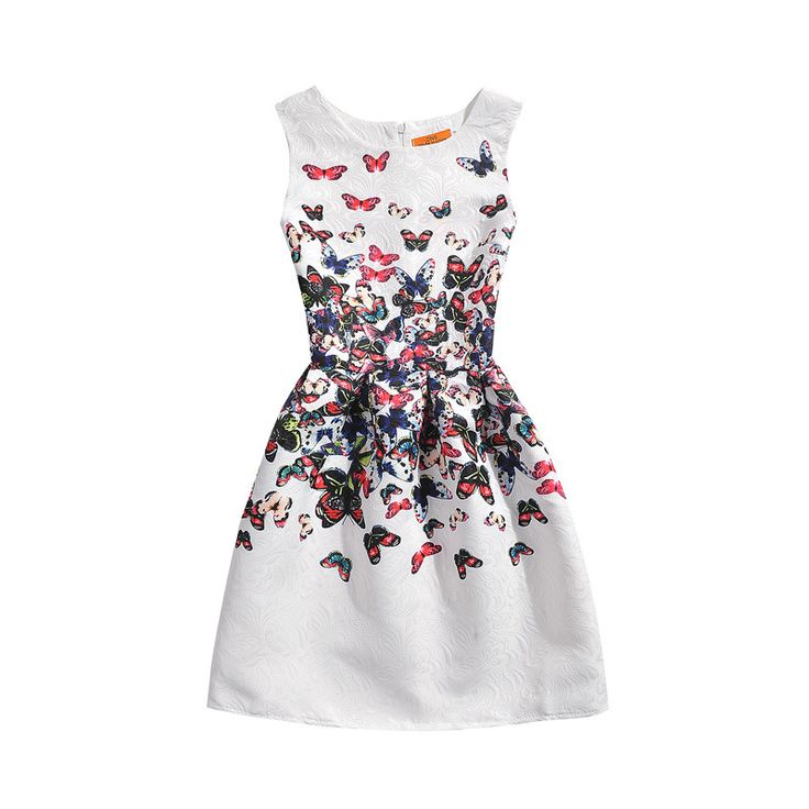 New Teenage Girls Dress Kids Printing Summer Dress Slim Sleeveless Princess Sofia Dress Kids Clothes For Girls 6 7 8 9 Year Olds