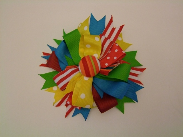 Circus/Carnival Theme hair bow
