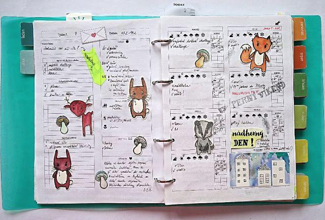 My diary 2017 / Můj diář 2017. Týdenní rozdělení a zvířátková razítka od Papero Amo.