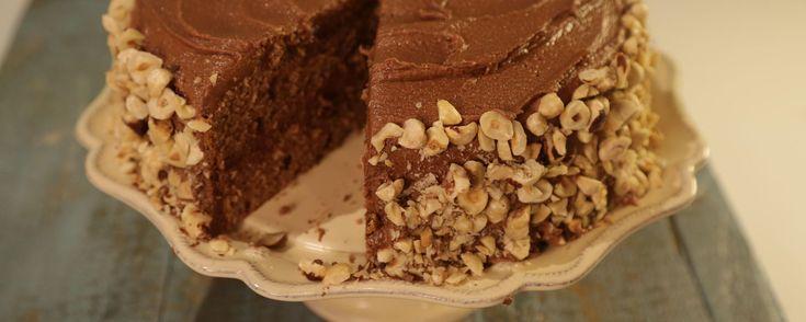 "The Chew/Daphne's ""life changing"" chocolate hazelnut cake. Go nuts over this decadent chocolate hazelnut cake!"