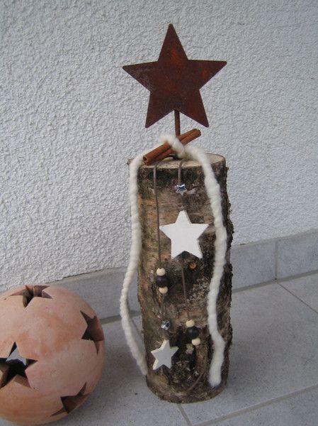 Weihnachtsdeko - Stern,Edelrost,Birke,Deko,Weihnachten,Geschenk - ein Designerstück von Dekoby-Jutta bei DaWanda