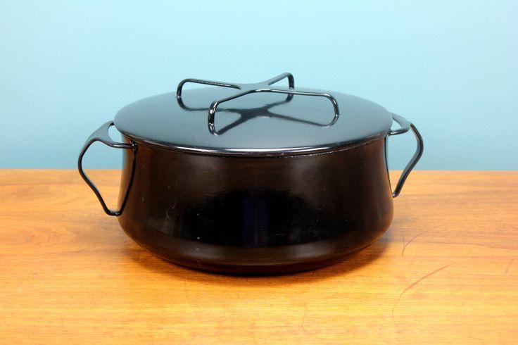 Vintage Dansk Kobenstyle Black Enamel 4 Quart Dutch Oven France Jens Quistgaard 60's 70's Retro Mid Century Modern Atomic Bakeware Cookware by RetroSpecList on Etsy https://www.etsy.com/listing/490348201/vintage-dansk-kobenstyle-black-enamel-4