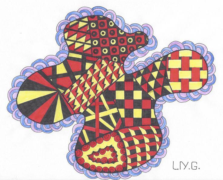 L.N.G. Original Zentangle #14