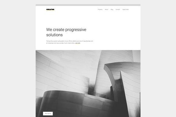 Creator. Minimal Theme for Creatives by Minimal Themes on Creative Market