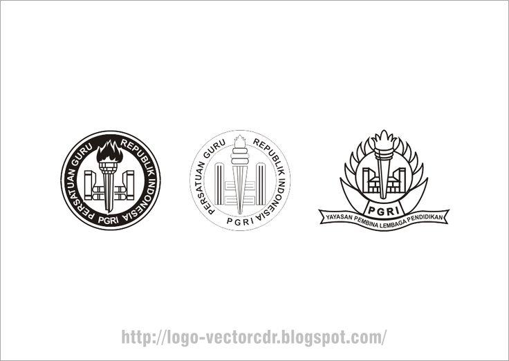 Logo PGRI Hitam Putih Vector format cdr