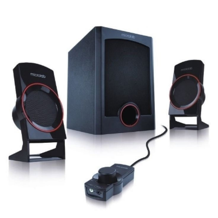 Microlab M111 2.1-Channel Subwoofer Speaker with wired remote control