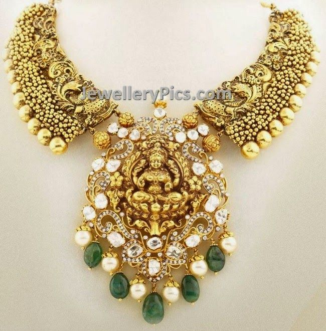 Nagas necklace with uncut diamonds - Latest Jewellery Designs