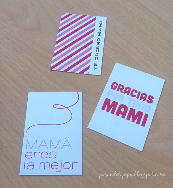 Mother's Day labels free - Etiquetas día de la madre gratis www.pasandolopipa.blogspot.com