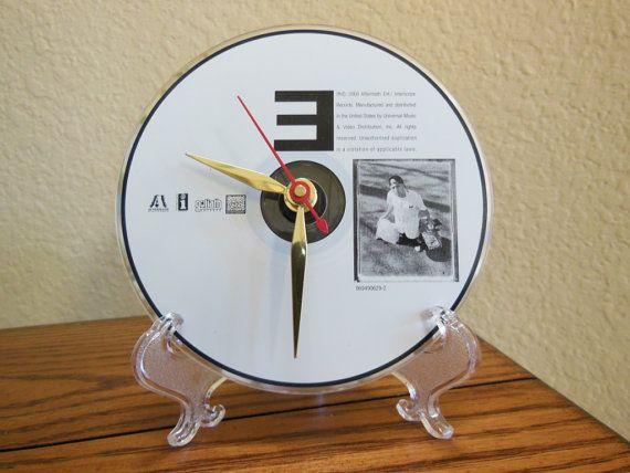 EMINEM CD Desk Clock Marshall Mathers I Stand by RecordsAndStuff