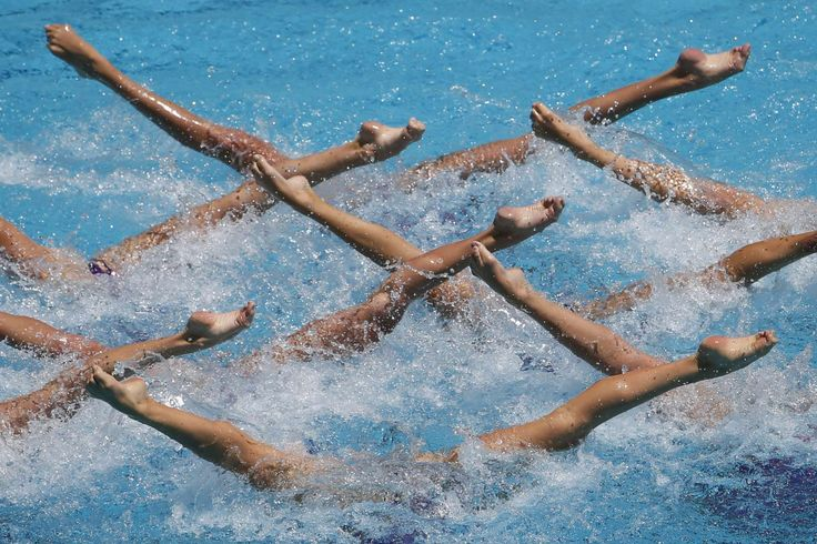 The best sports pictures of 2016:     Ukraine's team performs their Free Routine during the Synchronized Swimming Olympic Games Qualification Tournament at the Maria Lenk Aquatics Center in Rio de Janeiro, Brazil, on March 6.