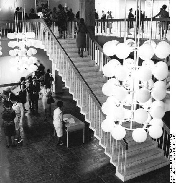 Neubrandenburg Haus der Kultur foyer, July 1965