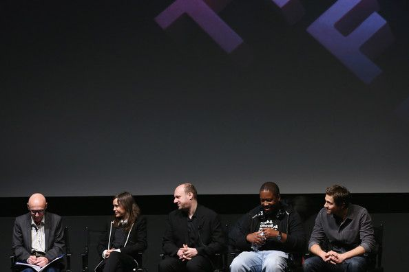 """(L-R) Harold Goldberg, Ellen Page, David Cage, Kadeem Hardison, and Eric Winter speak at Tribeca Talks: After the Movie """"Beyond: Two Souls"""" during the 2013 Tribeca Film Festival on April 27, 2013 in New York City."""