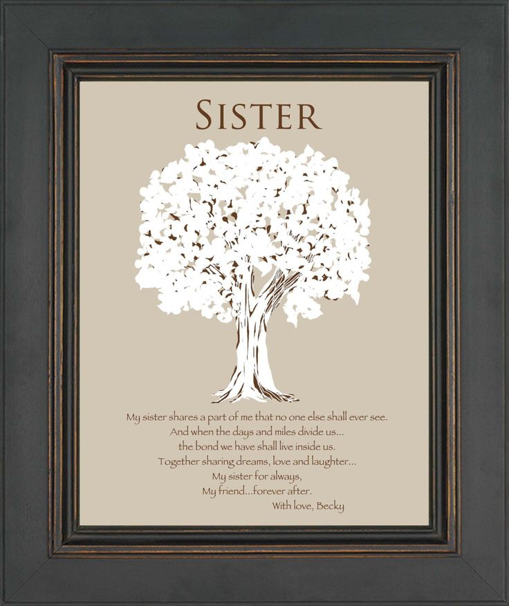 SISTER Gift -Personalized Gift for Sister -Wedding Gift for Sister- Sister Birthday Gift - Christmas Gift - Words can be customized by KreationsbyMarilyn on Etsy https://www.etsy.com/listing/173911090/sister-gift-personalized-gift-for-sister