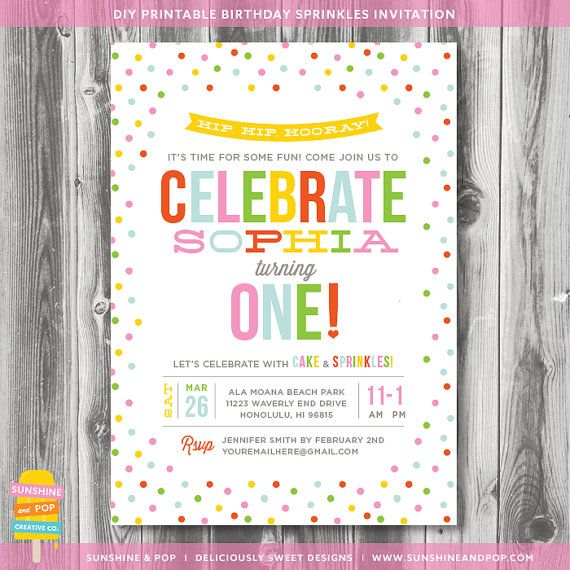 213 best 1st birthday invites images on pinterest birthday party printable sprinkles birthday invitation sprinkle with love first birthday confetti party diy invite baby stopboris Image collections