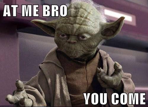 Yoda!! haha Hilarious!