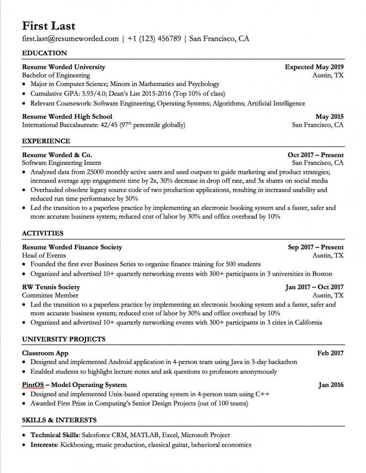 Beautiful Ats Resume Template 2018 Idea ms word high