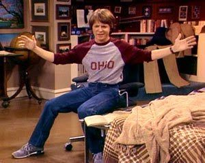Alex P. Keaton...aka Michael J. Fox  from Family Ties. One of the best sitcoms of the 80's.