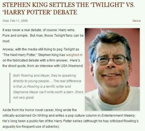 Stephen King knows what's up.