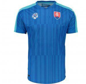 Slovakia National Team 2016 Away Jersey Blue Soccer Shirt [E359]
