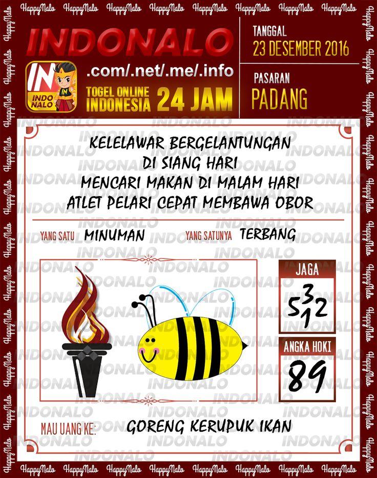 Angka Main 6D Togel Wap Online Live Draw 4D Indonalo Padang 23 Desember 2016