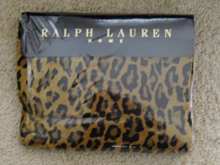 Ralph Lauren ARAGON LEOPARD King FLAT Sheet New in package #RalphLaurenHome #Contemporary