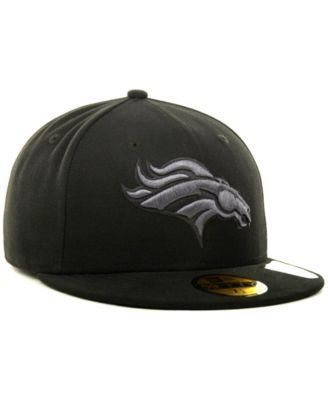 New Era Denver Broncos Black Gray 59FIFTY Hat - Black 7 3/4