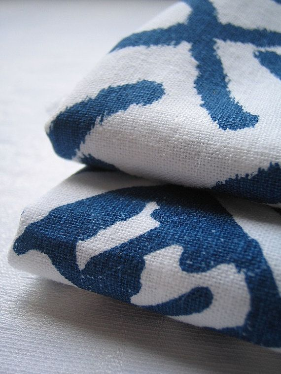 This is the perfect blue. Cultural hand screen printed fabric from BlueberryAsh on @Etsy