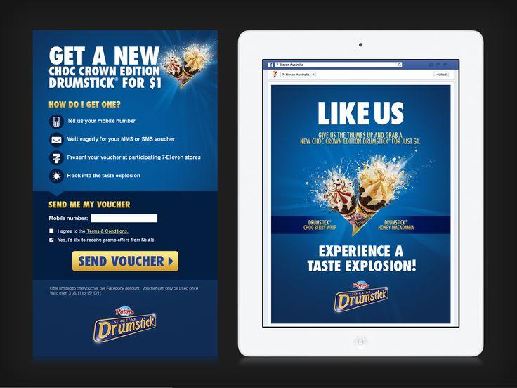 7-Eleven Drumstick Facebook app.