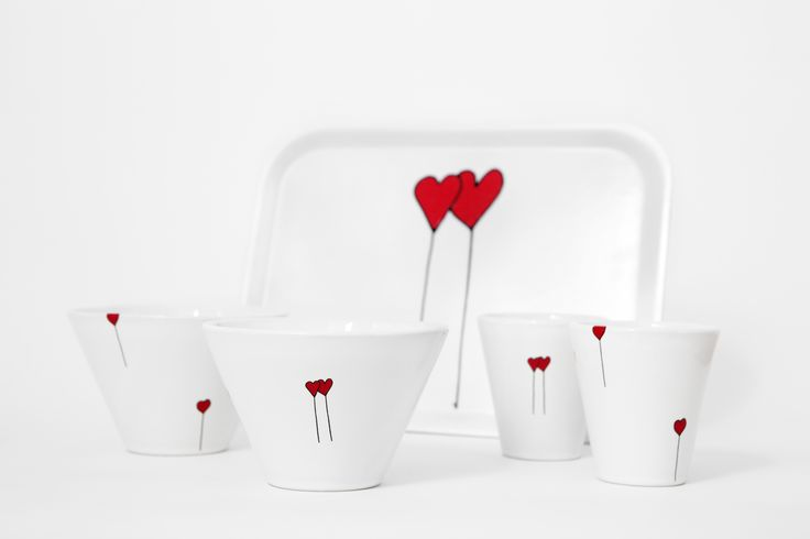 Be with you Cups, Bowls and Tray.