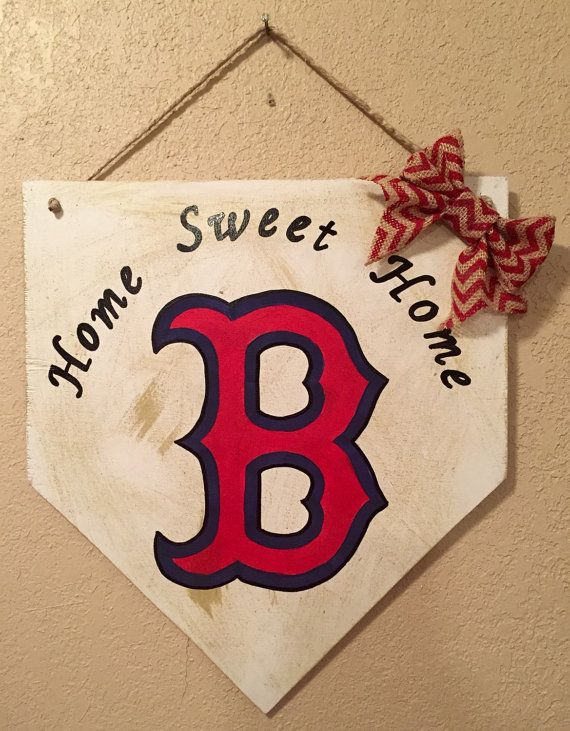 Boston Red Sox home plate sign Boston Red sox by WandNDesigns