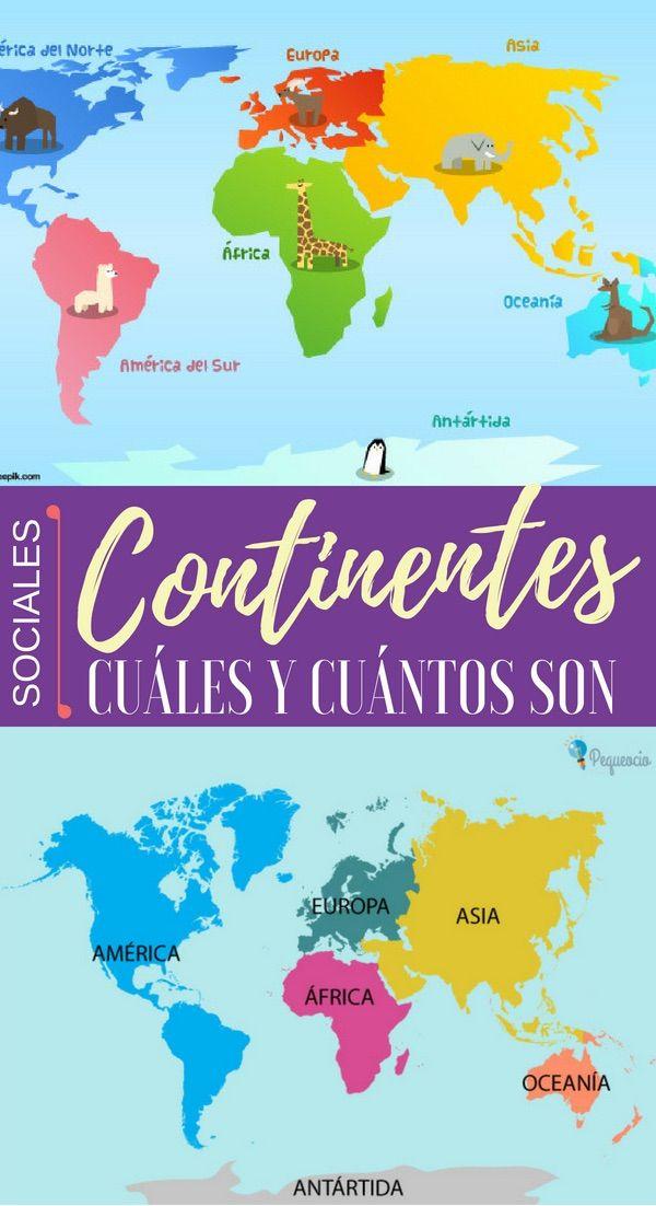 Continentes Cuántos Son Continentes Los Continentes Del Mundo Continentes Y Océanos