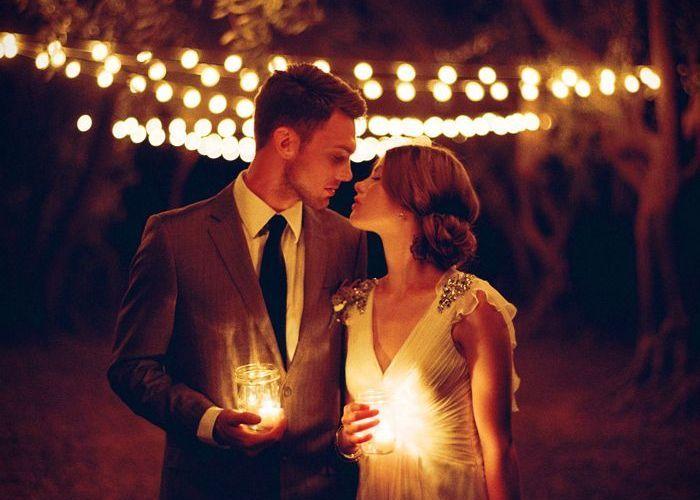 キャンドルの光がふたりを祝福*ロマンチックなナイトウェディングを挙げたい♡のトップ画像