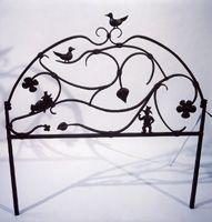 Fantasy Bed Forged Headboard - Steve Fontanini Blacksmith