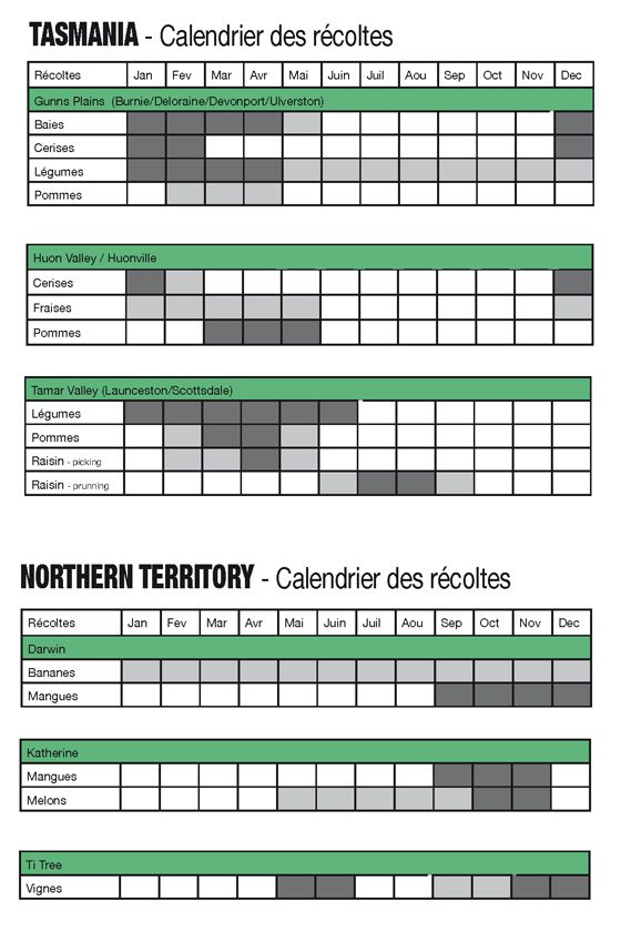 Fruit Picking - Calendrier récoltes 3