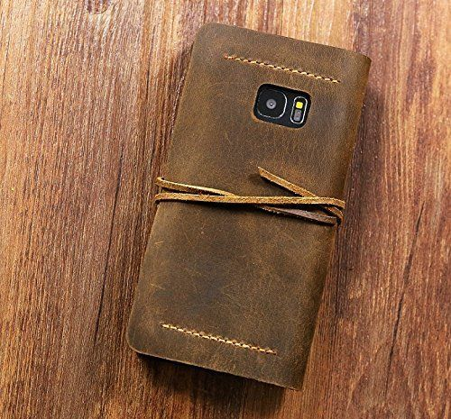 Personalized Vintage distressed genuine leather Galaxy S7 Case / S6 S7 Edge wallet cover / S6 S7 Edge Wallet case - GS005WS