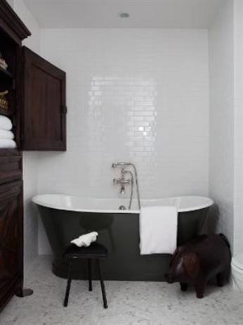 master bathroom designed by nate berkus a custom english tub u0026 white subway tiles lend