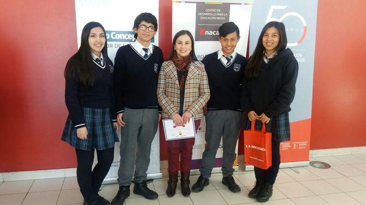 Nuestros alumnos felices con su segundo lugar en la competencia de actualidad organizada por #Inacap #Tecnológicodaríosalas