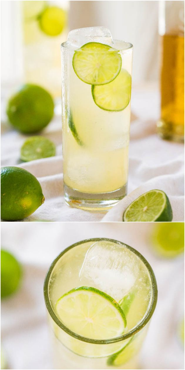 The Best Homemade Margaritas: All-Natural, 3-Ingredients - No sugar so you can sip worry-free! They go down way too easily!
