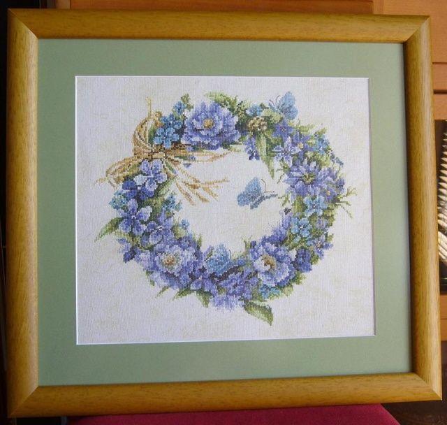 Niebieski wieniec Lanarte 47 x51